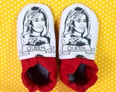 Custom classroom shoes, soft soled slippers, made to order slippers. Montessori or Waldorf shoes. Michelle Obama
