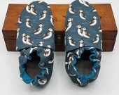 Custom classroom shoes, soft soled slippers, made to order slippers. Montessori or Waldorf shoes. Made to order. Puffins