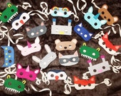 Set of 5 custom masks. Gr...