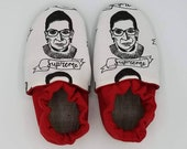 Custom classroom shoes, soft soled slippers, made to order slippers. Montessori or Waldorf shoes. Made to order. Ruth Bader Ginsburg. RBG.