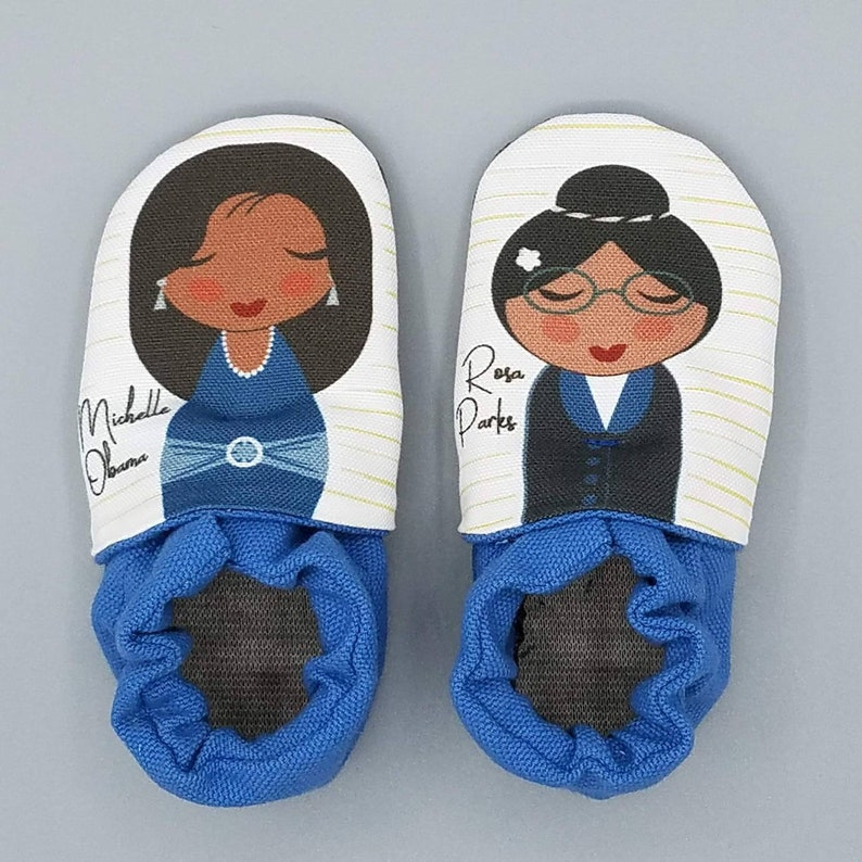 Custom classroom shoes soft soled slippers made to order image 0