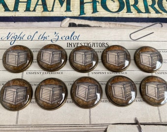 Arkham Horror Resource Tokens - 10 Resource Tokens - Metal Brass Base
