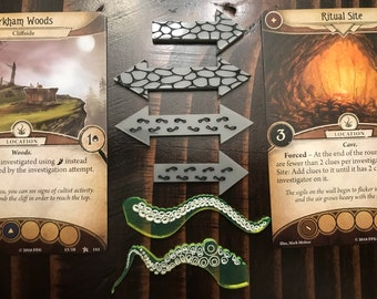 Arkham Horror The Card Game Token Arrows. Location Markers Move Markers Cthulhu Tokens