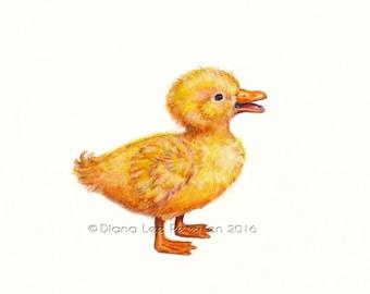 Duck Art Print Nursery Baby Duck Little Duck Painting Duck Art Nursery Art Animals Duck Print Duck Nursery Decor Bird Nursery Art Kid's Room