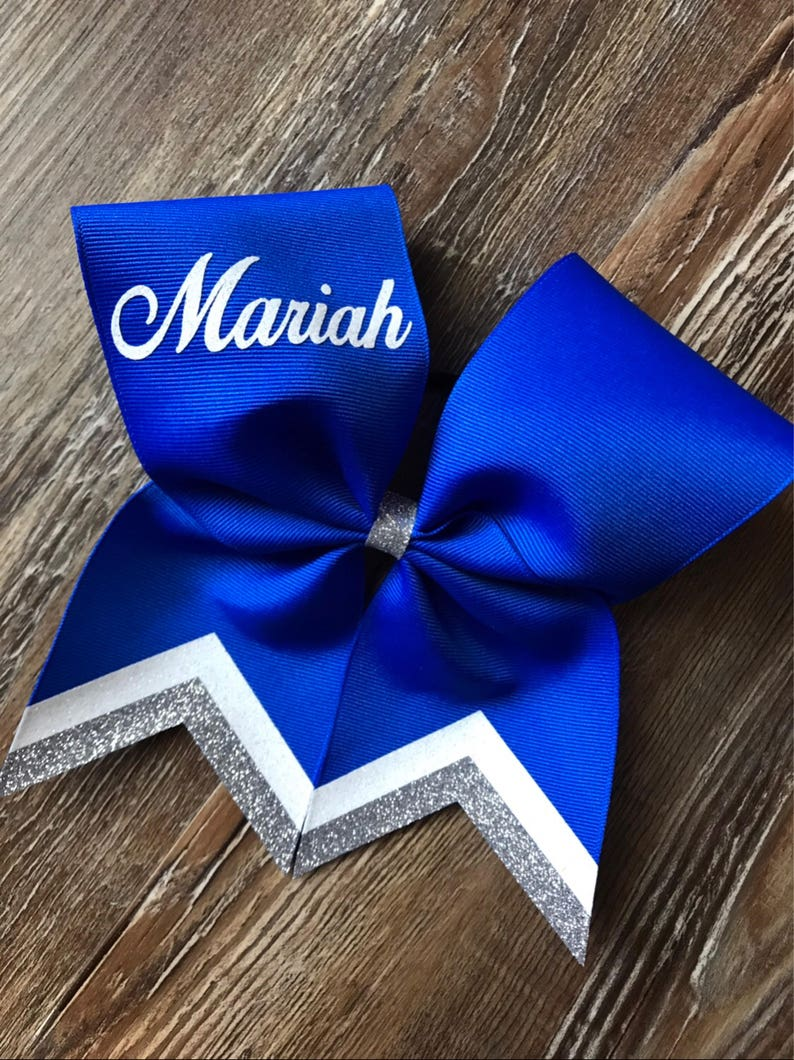 c69eec4d3680 Custom cheer bows personalized with name
