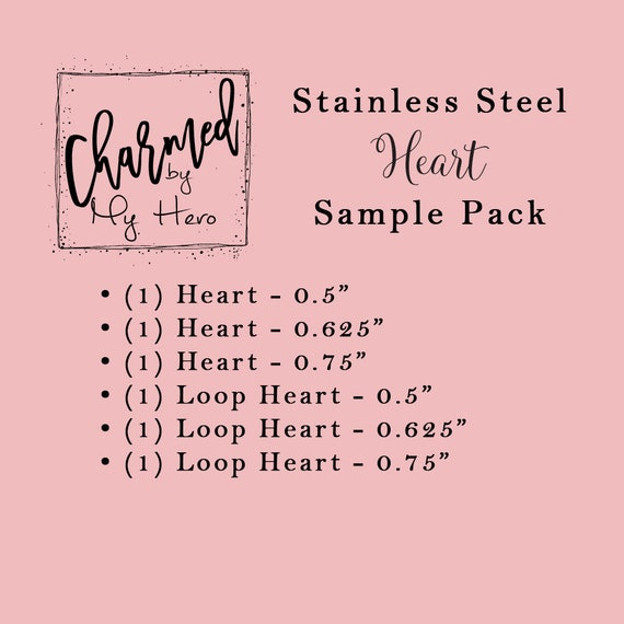 0.5 Hand Stamping Blanks Rose Gold-Toned Heart 5 PIECES 12 316L Stainless Steel ROSE GOLD   Engravable Charm