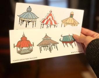 Tower Grove Pavilion Sticker Sheet