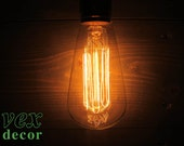 Edison Antique Style Light Bulb - 60w 120v Squirrel Filament - Dimmable - 3000 Life Hours - Medium Base (Standard E26) - Incandescent