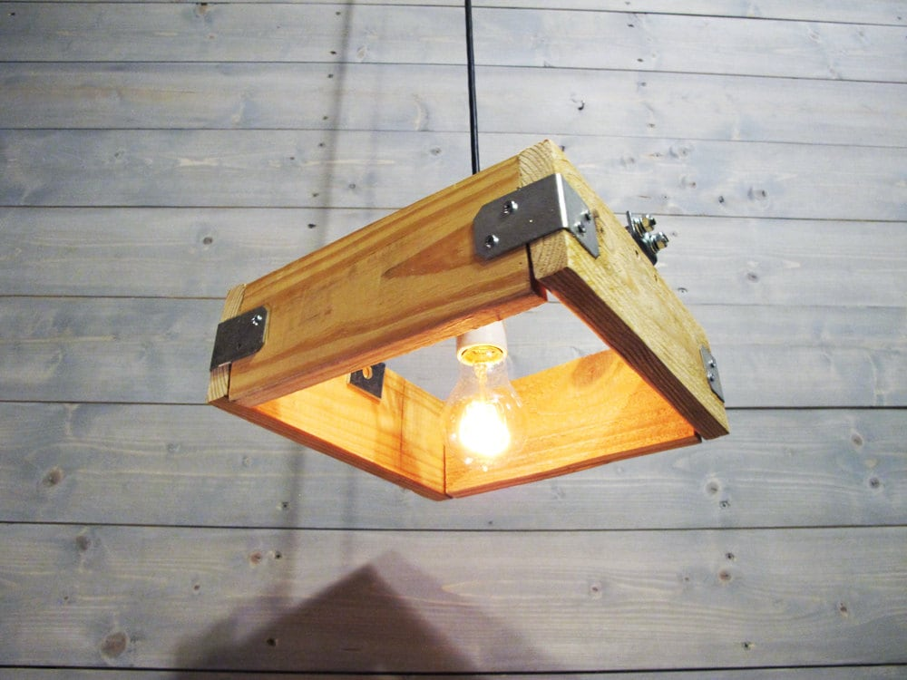 Famous 10 or 12 Sqaure Pallet Porcelain Socket - Reclaimed Pendant Light  CJ15