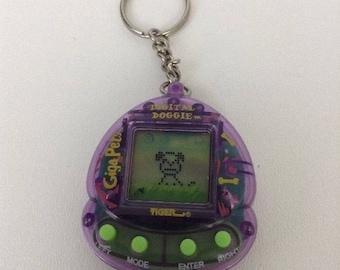 Giga Pets Digital Doggie 1997 Tiger Electronics Virtual Pet Purple 06e867298