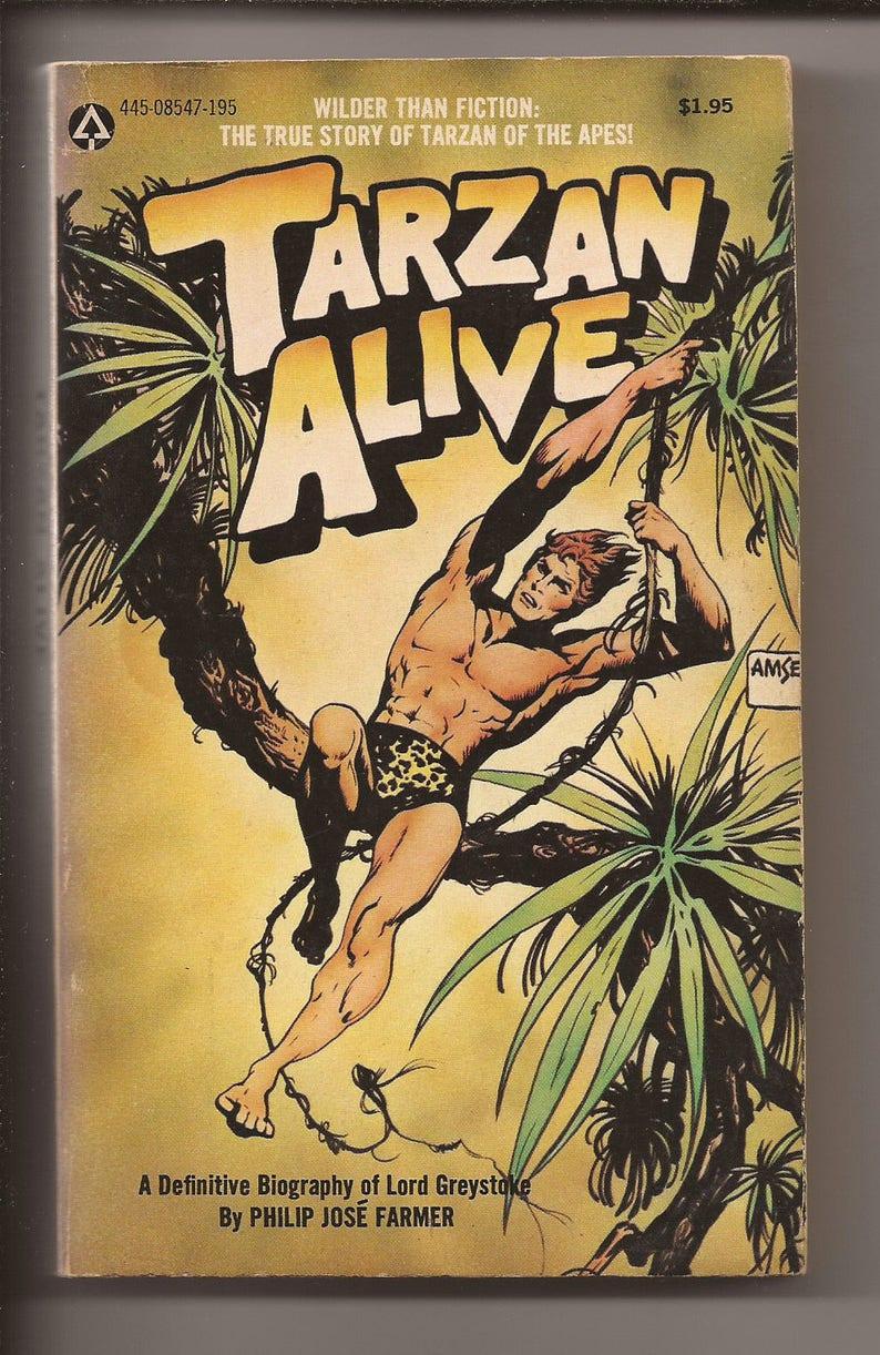 Popular Library Philip Jose Farmer: Tarzan Alive 1976 image 0