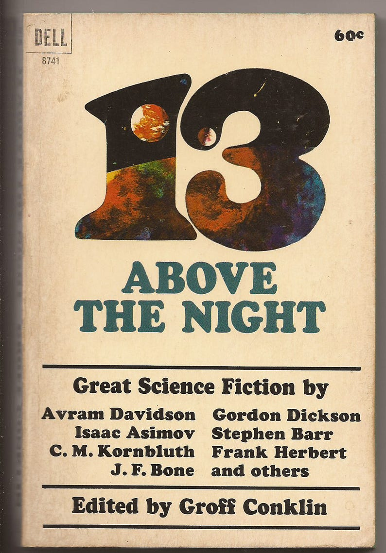 Dell Edited by Groff Conklin: 13 Above the Night 1965 image 0