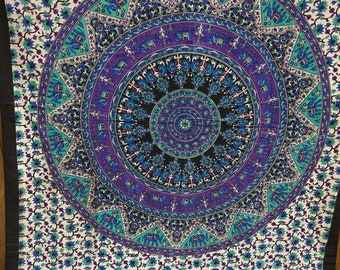 Indian Mandala Wall Hanging /Mandala Tapestry/ Hippie Tapestry /Wall Decor/ Twin Tapestry/Dorm Room Tapestry # T 34