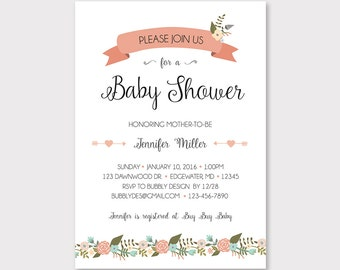itinerary for baby shower
