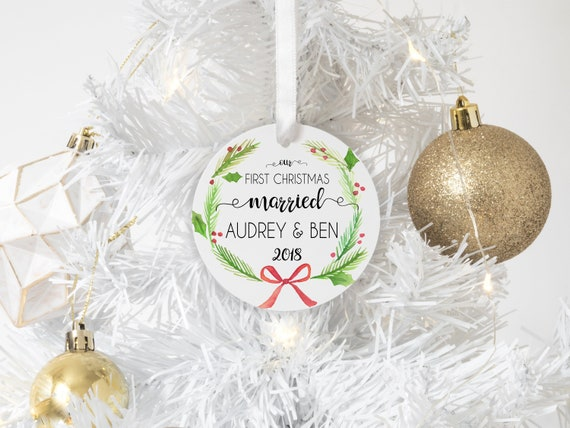 Wedding Gift Ornaments: Our First Christmas Married Ornament Wedding Gift