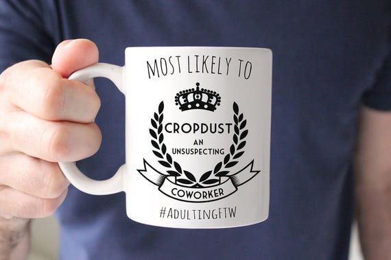 Funny Fart Gift Coworker Coffee Mug Adult Award