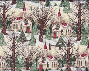 Christmas Church Curtain Valance