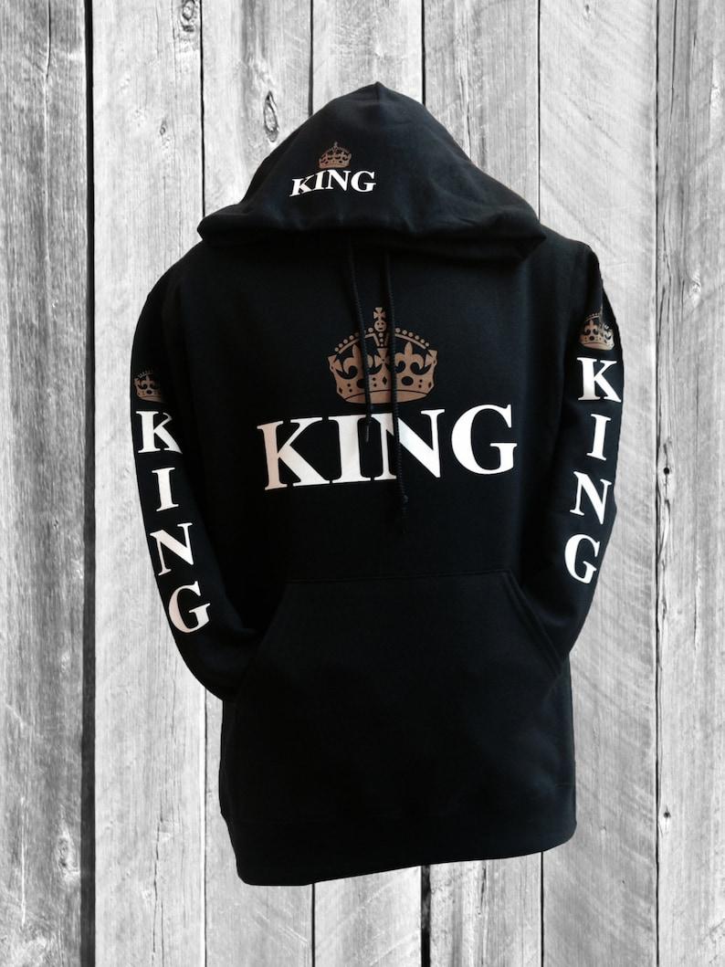 Black king hoodie etsy