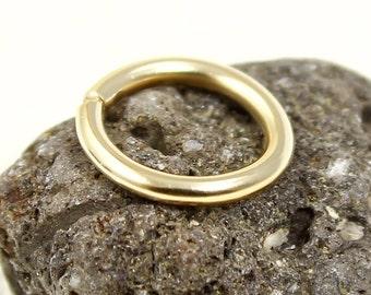 Navel Ring, Piercing ring, Nose ring, Rose or Yellow Gold Filled, 14, 16, 18, 20, 21,22gauge, Nose ring gold, Belly ring, Cartilage earring
