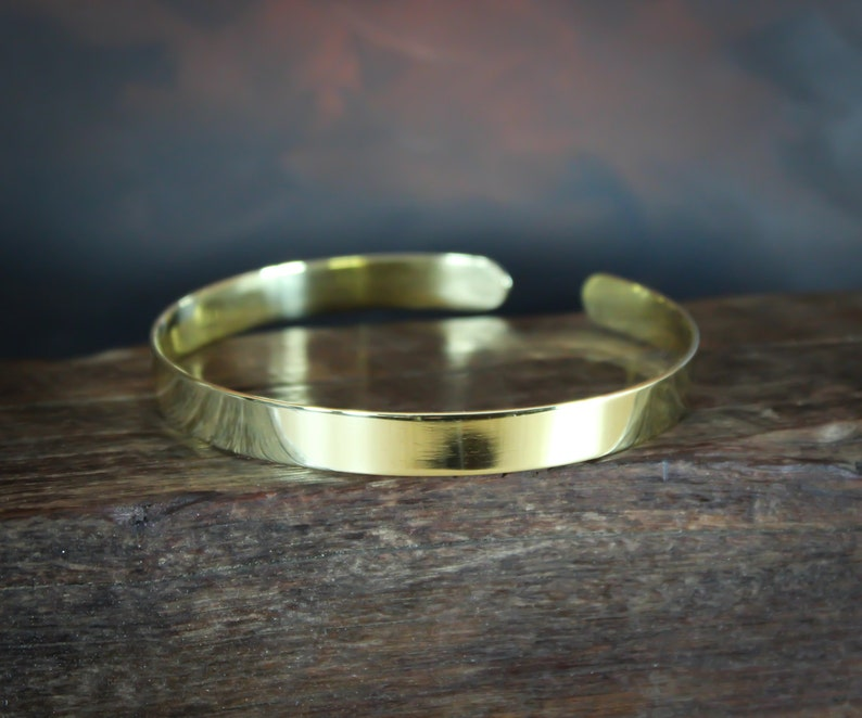 Arm Band Gold arm cuff Polished Solid Brass or Copper Lead image 0