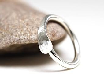 Nose Ring, Sterling Silver Nose ring, Various Gauges, Hammered, Textured, Nose ring, hoop, Silver nose ring, Cartilage hoop, Navel Ring