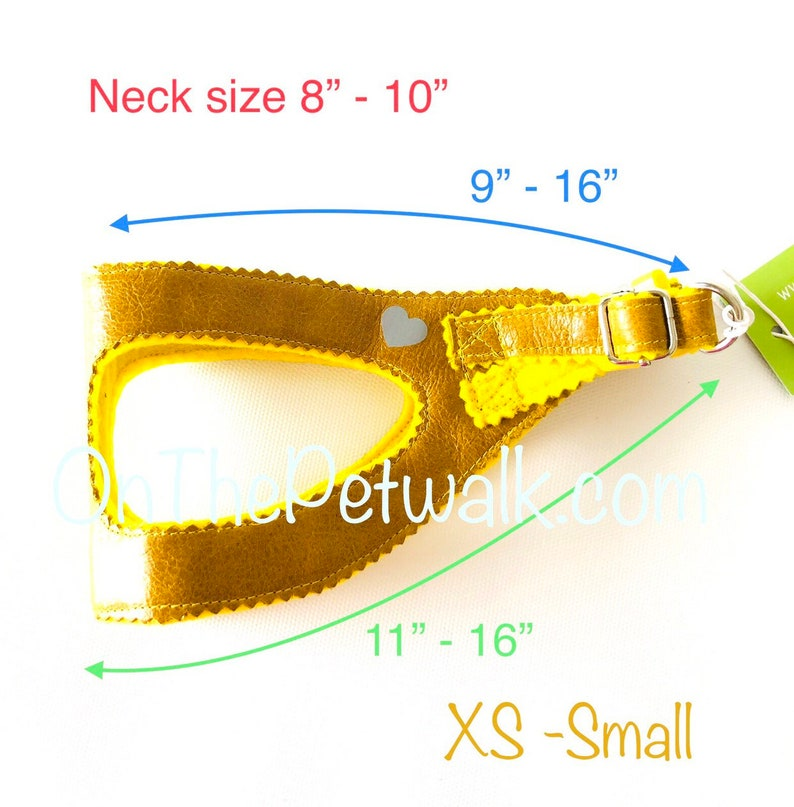 XS Yorkie Adjustable Reflective Brown Leather Dog Harness M Iggy S Small Dog Harness Step In Harness Puppy Harness Poodle Green