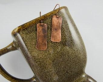 Rectangle Oxidized Copper Earrings