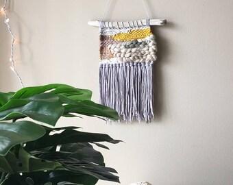weaving wall hanging, weaving, woven wall hanging, woven wall art, wall hanging, woven tapestry, yarn wall hanging, roving and yarn decor