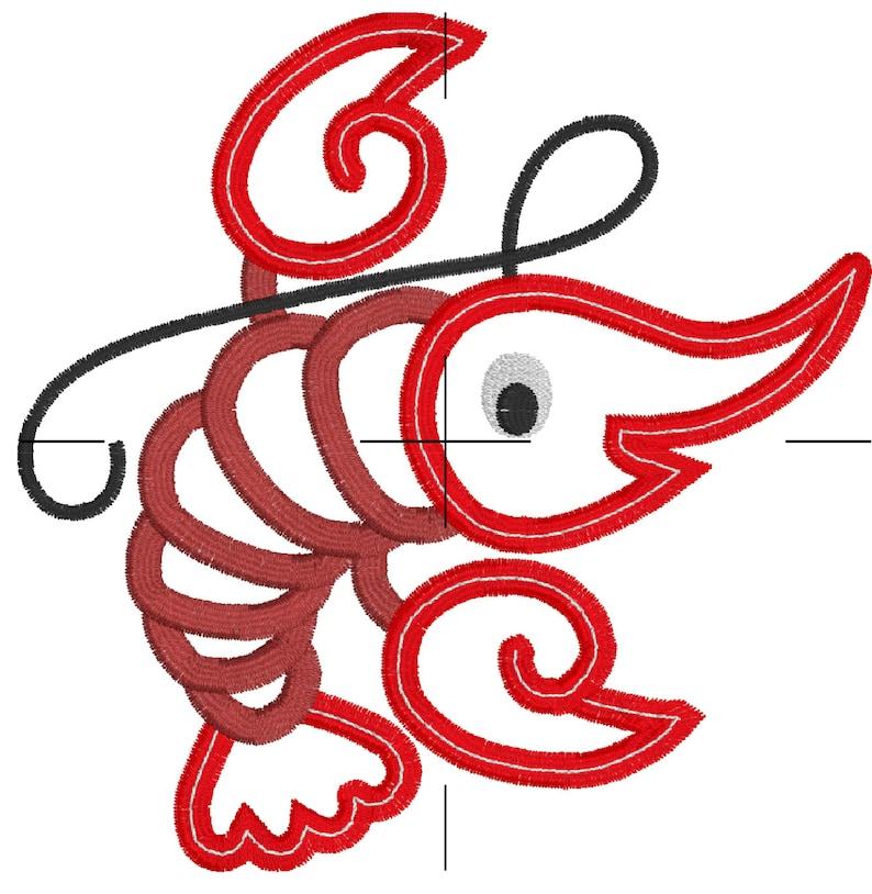 NOLA Cute Crawfish Summer Nautical Beach Machine Embroidery Design Digital  Applique Pattern INSTANT DOWNLOAD Lake Ocean Boil Lobster Crab