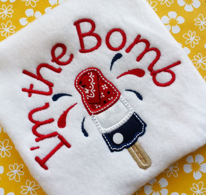 SALE CRAZY DAYS Bomb Pop Day 4th of July Summer Applique Embroidery Pattern  Design instant download digital file 3 sizes popsicle fireworks