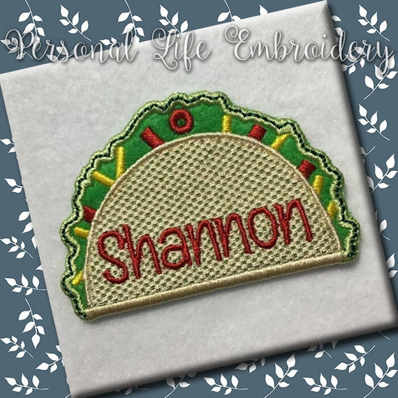 ITH Taco School Backpack Keychain Zipper Pull Christmas Gift Tag Machine  Embroidery Design Digital Applique INSTANT DOWNLOAD In the Hoop