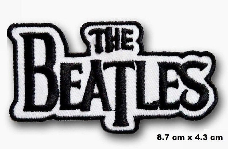 The Beatles Rockabilia Music band Black /& White Iron-on Embroidered Patch// Logo