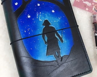 Ready to Ship A5 Wide Professor Snape Travelers Notebook  Elrohir Leather LT1917 Planner Bullet journal bujo travellers Harry Potter