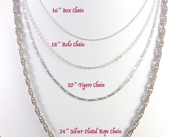 Sterling Silver Chains - Only available as add-on to other items.