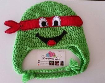 Ninja turtle hat, gorro tortugas Ninja