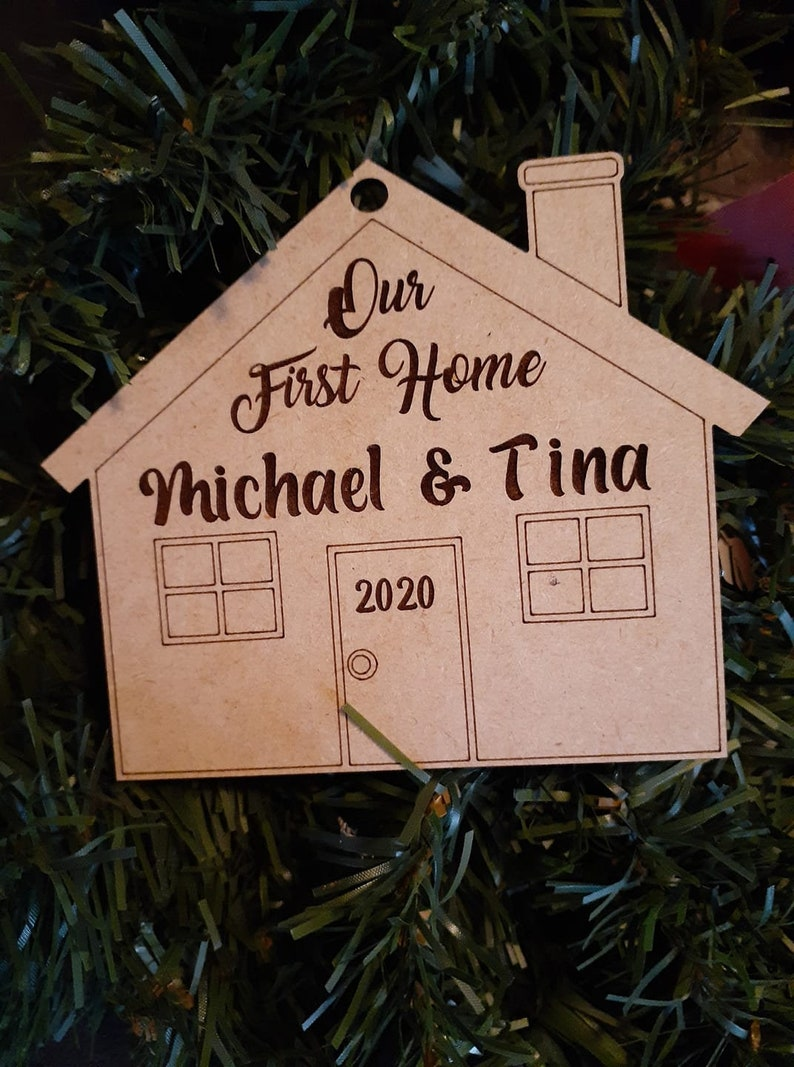 First Christmas in New Home Ornament-SVG file for Glowforge