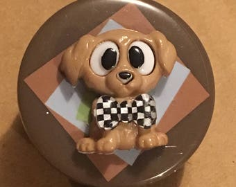 Bow Tie Badge Reelpuppy Dog Designanimal Lover Gift Novelty Buttons Creative Clip Clips Peds Techstethoscope Id Tag Gump Art