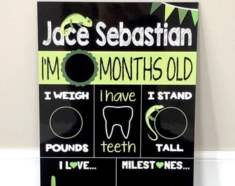 Reusable Custom Personalized Child's Monthly Statistic Board **This is not a digital file**