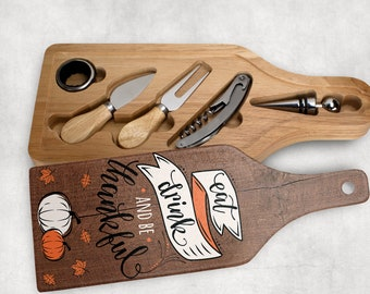 Thanksgiving Wine and cheese gift set