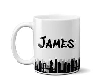 New York Themed ceramic coffee mug