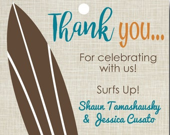 Surf Thank You Tags