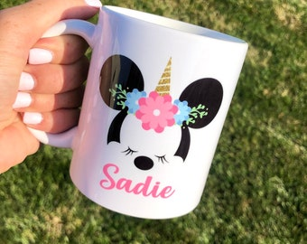 Minnie Mouse unicorn mug