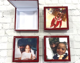 Custom personalized 6x6 jewelry box any design or photo can be used