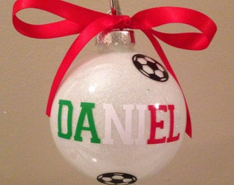 Personalized Soccer Christmas Ornament