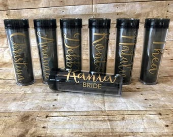 Personalized Bridal Party Skinny Tumblers