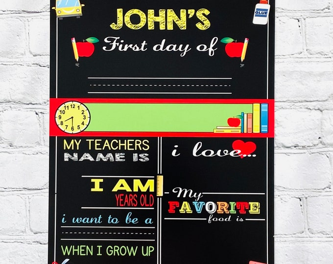 Reusable Custom Personalized Child's School Board **This is not a digital file**