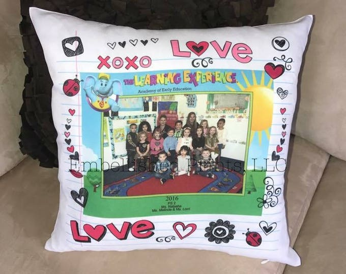 Custom School Class Picture Pillow Personalized with Any Photo