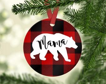 Mama Bear Aluminum Christmas Ornament
