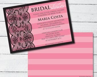 b8157484b8c5 Victoria Secret Themed Bridal Shower Invitation