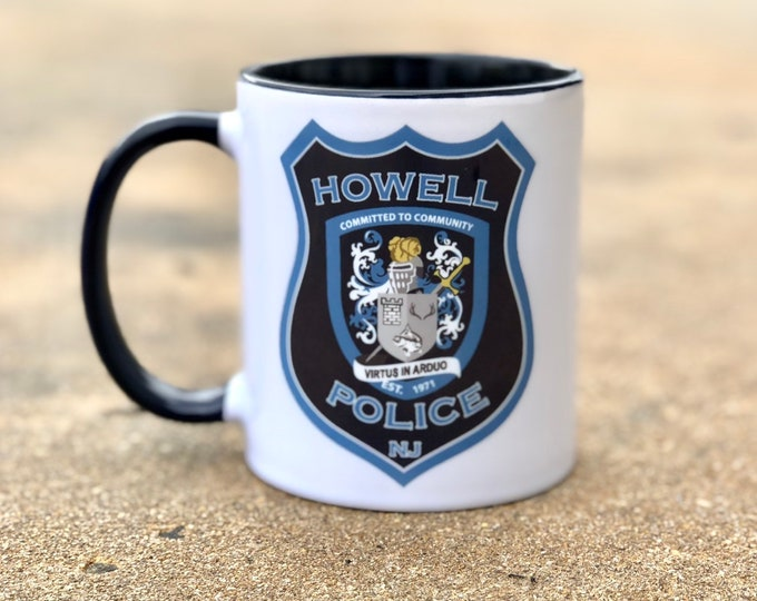 Customizable Police Patch Mug/Any Department Can be Used